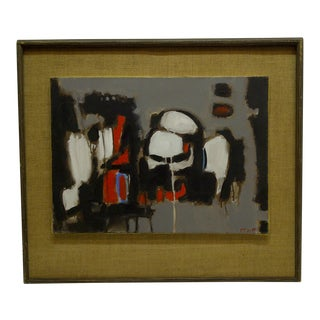 """20th Century Contemporary Original Framed Painting on Canvas, """"Skulls"""" by Frederick McDuff For Sale"""