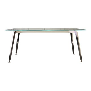 Contemporary Glass and Aluminum Desk/Table For Sale