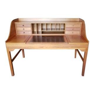 Solid Teak Danish Modern Andreas Hansen Writing Desk For Sale