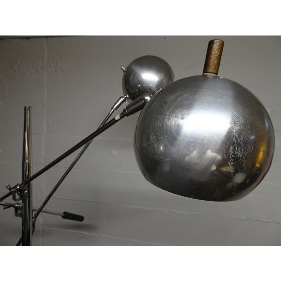 1960s 1960s Mid-Century Modern Robert Sonneman Chrome Triennale Atomic Orbiter Floor Lamp For Sale - Image 5 of 9