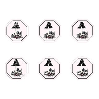 The Shaggy Ink Cap Coasters- Set of 6