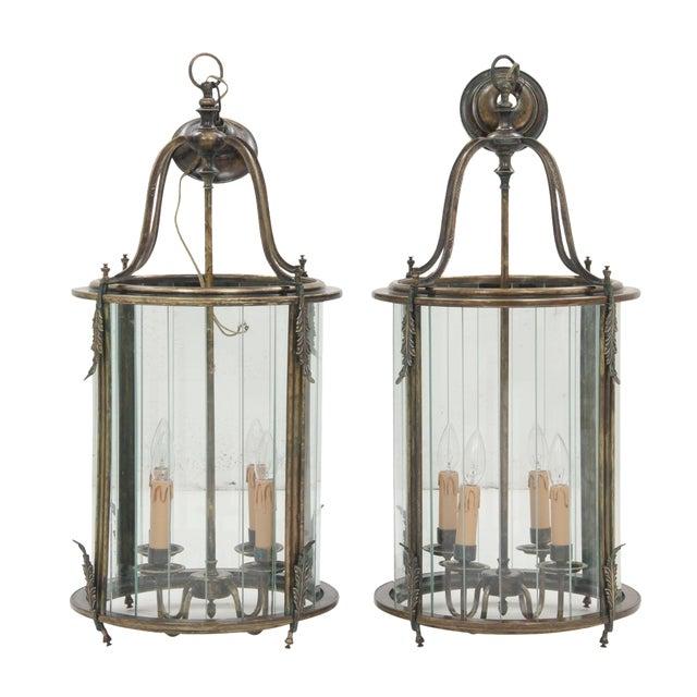 Art Nouveau Lanterns - A Pair - Image 1 of 8
