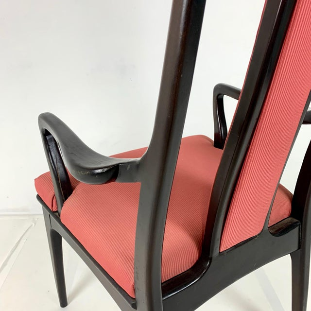 Brick Red Pair ofMahogany Parzinger Style Dining / Occasional Chairs by John Stuart For Sale - Image 8 of 12
