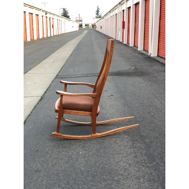 Vintage Mid Century Studio Crafted Rocking Chair For Sale - Image 12 of 13