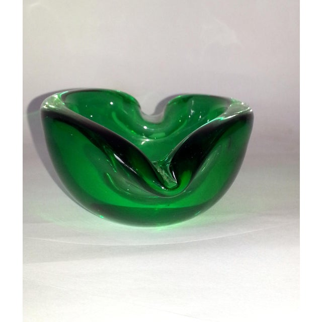 Vintage Murano Curled Leaf Dish For Sale In Miami - Image 6 of 11