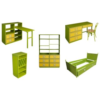 1970s Kids Bedroom Set by Drexel Plus One With Original Booklet - 6 Pc. Set For Sale