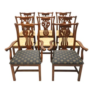 Knob Creek Mahogany Chippendale Dining Chairs - Set of 8 For Sale