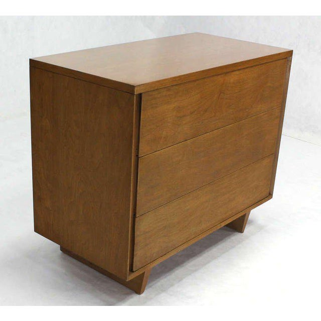 Nice mid century walnut bachelor chest by John Stuart.