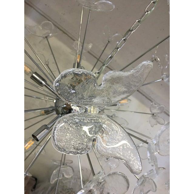 Italian Mid-Century Kromo Murano Glass Butterfly Sputnik Chandelier For Sale - Image 9 of 11