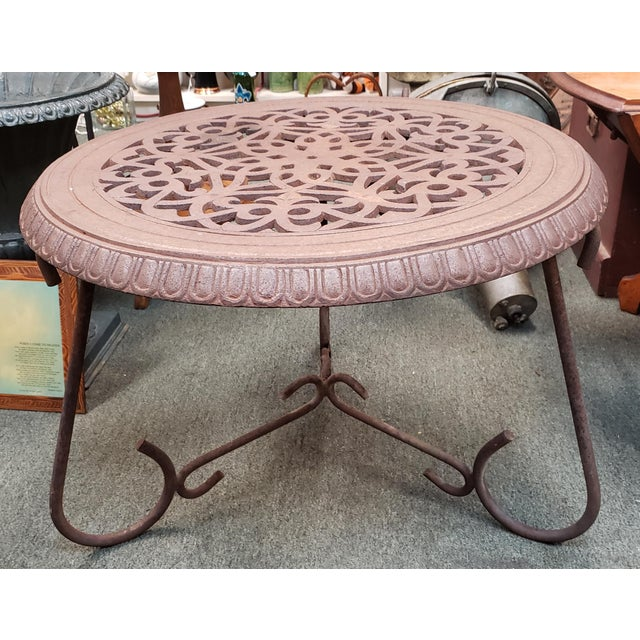 Late 19th Century American Victorian Cast Iron Floor Register Grate Top Table For Sale In New Orleans - Image 6 of 6