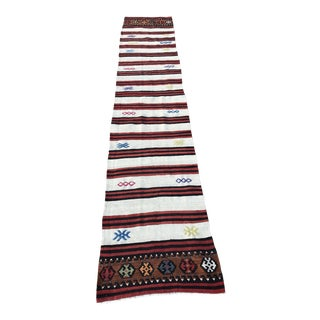 "Vintage Anatolian Handwoven Runner - 2' x 12'2"" For Sale"