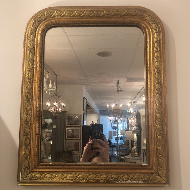 Louis Phillipe Gold Mirror For Sale - Image 9 of 11