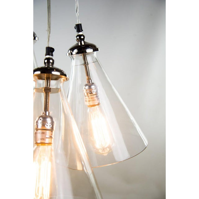 1980s Triple Cone Hanging Light For Sale - Image 5 of 10