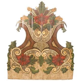 19th Century Portugese Polycromed Headboard,