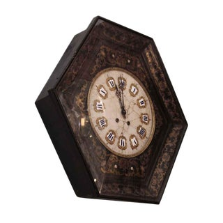 Marble Face Chinoiserie Design Wall Clock