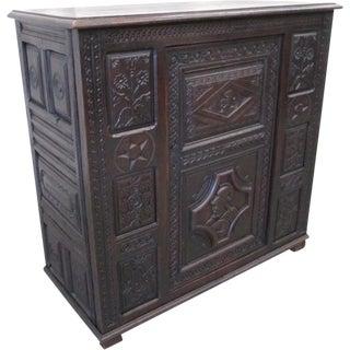 French Antique Sideboard Server Vestry Cupboard For Sale