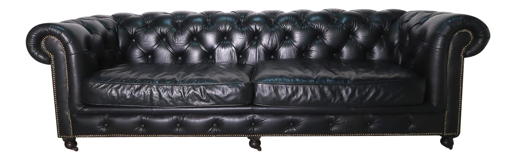 Incroyable Restoration Hardware Kensington Leather Sofa