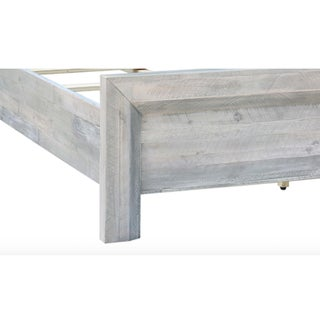 Grey Washed Solid Acacia Queen Bed Preview