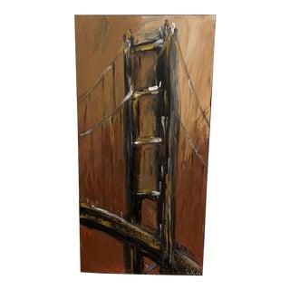 Warren Knapp Original Acrylic Painting of the Golden Gate Bridge For Sale