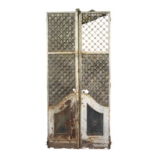 19th C. French Provincial Woven Iron Doors - A Pair