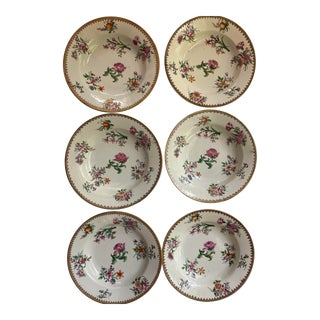 18th Century Famille Rose Plates - Set of 6 For Sale