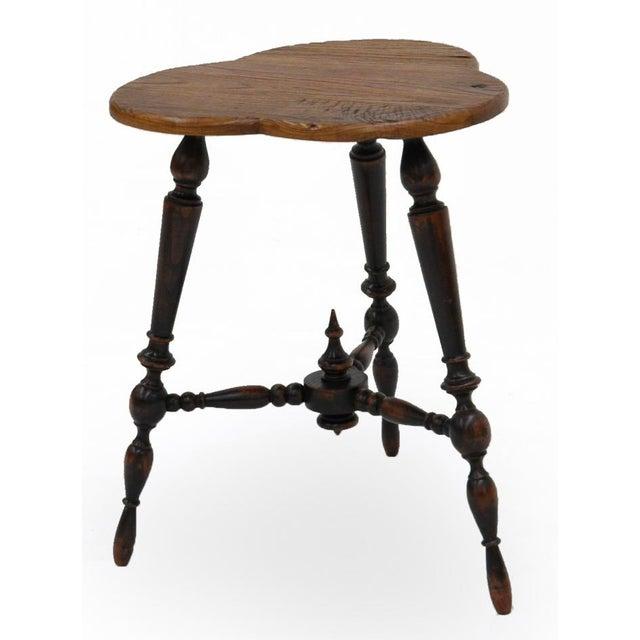 Sarreid Ltd. Turned Leg Tripod Side Table - Image 2 of 5