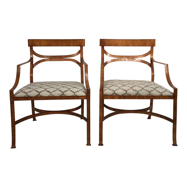 Maitland Smith Tole Armchairs - a Pair - Image 1 of 11