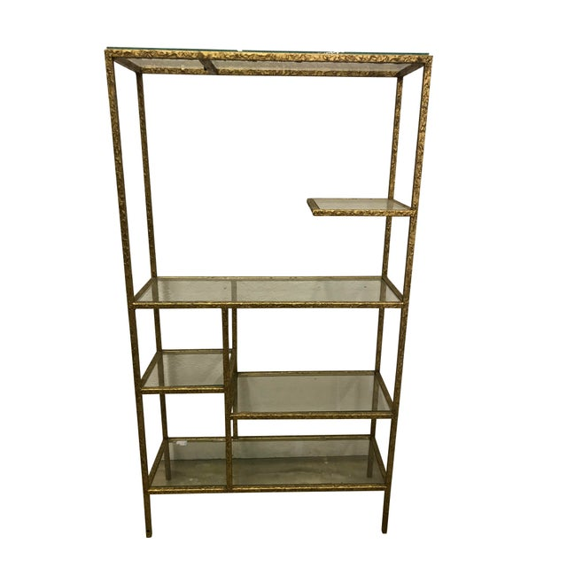1970s Gilded Etagere For Sale - Image 5 of 5