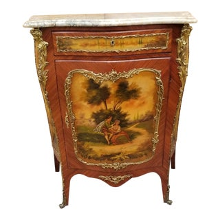 Antique French Louis XVI Revival Gilt Bronze Mounted Ormolu Commode For Sale