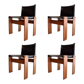 "Four 1974 ""Monk"" Chairs by Afra & Tobia Scarpa"