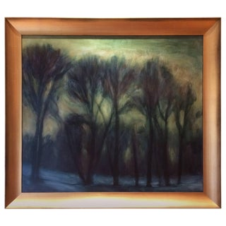 Gorgeous Moody Tree Landscape by Kevin Broad For Sale