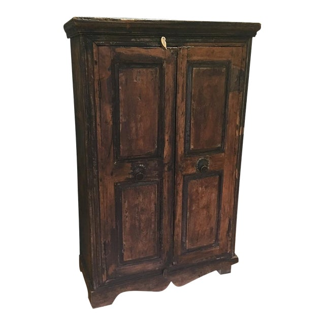Refinished Antique Wooden Armoire - Image 1 of 10