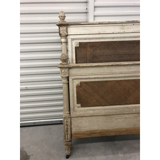 Antique French Cane Twin Headboard and Footboard - 2 Pieces Preview