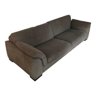 Roche Bobois Modern Ultra Suede Sofa For Sale