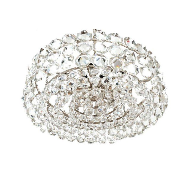 Hollywood Regency Pair of Large Bakalowits and Sohne Vienna Drum Chandeliers For Sale - Image 3 of 8