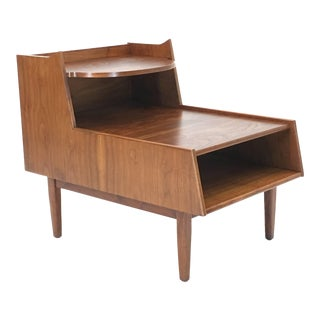 Premium Triple Tiered Table by Kipp Stewart in Walnut For Sale