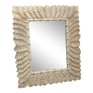 Tropical Palm Tree Leaf Wall Mirror For Sale