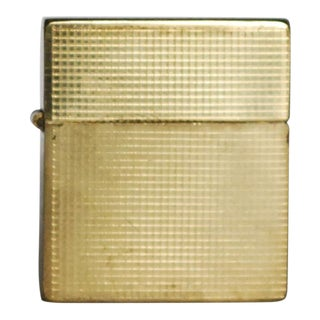 1940s Vintage Art Deco Gold Mini Cigarette Lighter For Sale