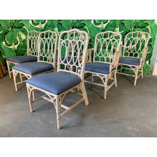 Rattan Loop Back Dining Chairs by Lexington - Set of Six Preview