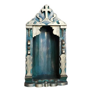 Vintage Spanish Colonial Mexican Wall Niche Religious Shrine For Sale