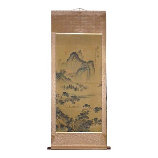Chinese Natural Water Mountain Scenery Scroll Painting Wall Art For Sale