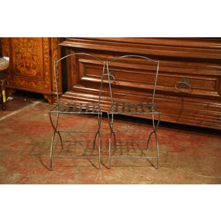 Pair of 19th Century French Polished Iron Bistrot Chairs From Paris Preview