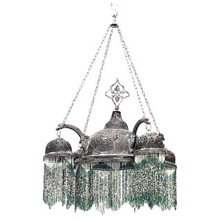 Middle Eastern Moorish Style Filigree Chandelier For Sale