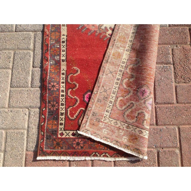 "Vintage Anatolian Rug - 2'7"" x 6'1"" - Image 6 of 6"