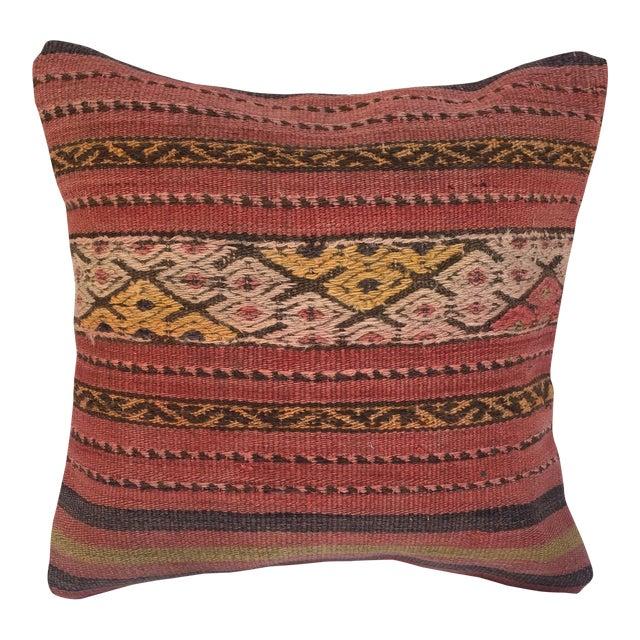 Southwestern Woven Kilim Striped Pillow For Sale
