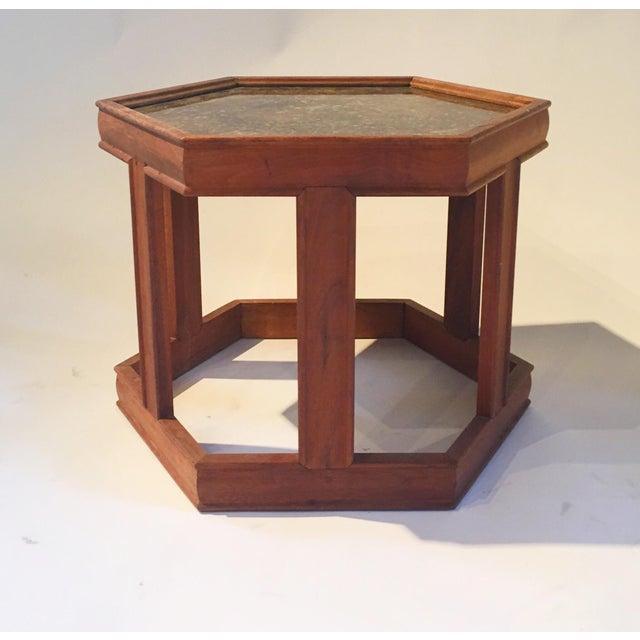 Mid-Century Hexagonal Side Table - Image 2 of 7