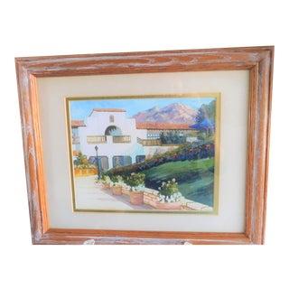 "1980s ""Palm Springs II"" Landscape Print by Robert Hockenberry, Framed For Sale"
