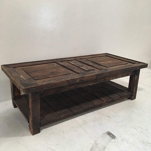 Rustic Wooden Coffee Table - Image 8 of 8