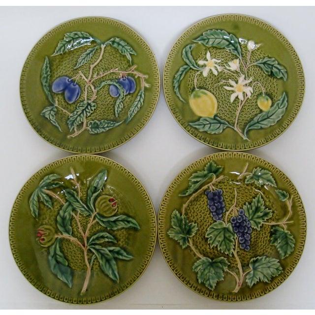 Portuguese Porcelain Fruit Plates - Set of 4 - Image 2 of 4