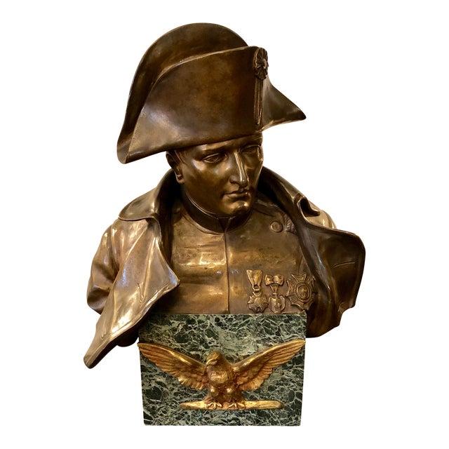 Late 19th Century Antique Rafael Nannini Bronze Bust of Napoleon I Sculpture For Sale